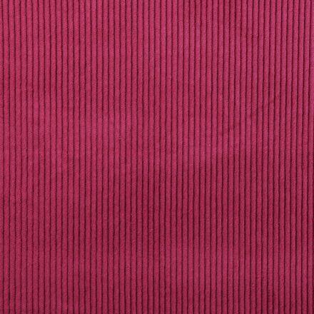 Tissu Velours Grosses côtes Lie de Vin - Par 10 cm