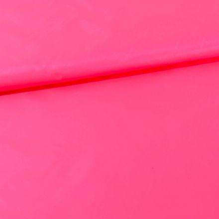 Tissu Déperlant k-way uni Rose fluo - Par 10 cm