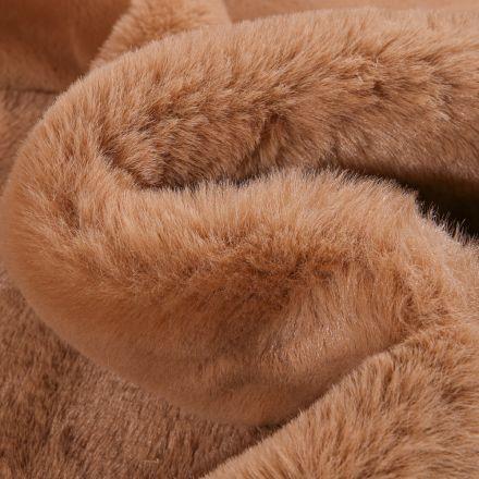 Tissu Fausse fourrure Luxe Ultra douce épaisse Camel