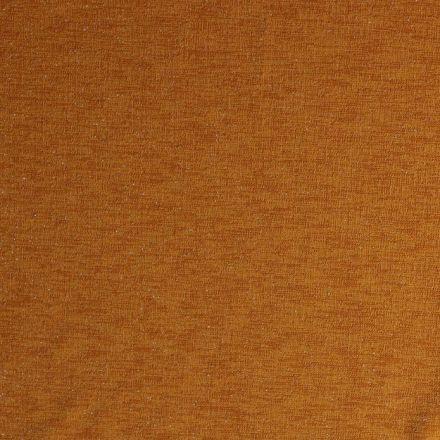 Tissu Jersey Lurex toucher crêpe Jaune moutarde - Par 10 cm