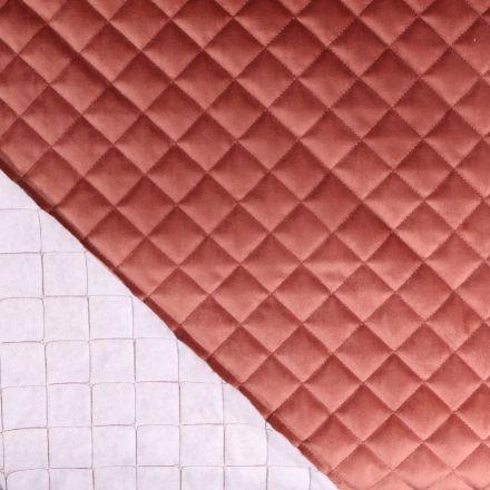 Tissu Doublure matelassée velours Vieux rose - Par 10 cm
