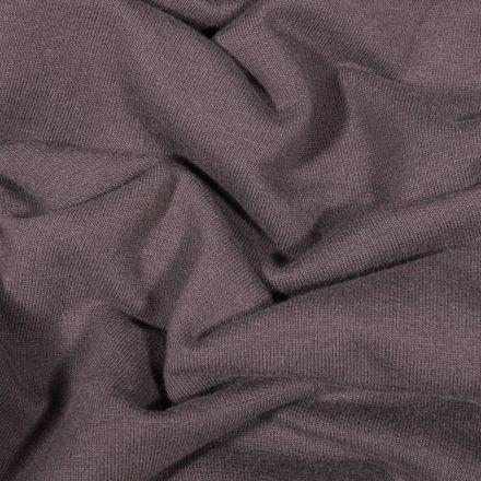 Tissu Jersey Coton envers molletonné uni Bio Gris anthracite - Par 10 cm