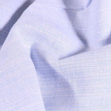Tissu Chambray Chiné Bleu clair - Par 10 cm