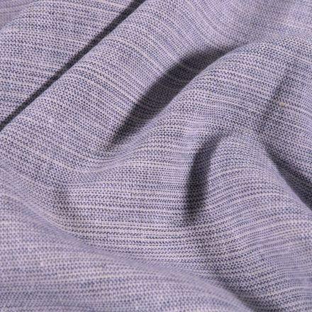Tissu Chambray Chiné Bleu gris - Par 10 cm