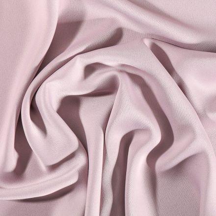 Tissu Crêpe satin mat Vieux rose - Par 10 cm