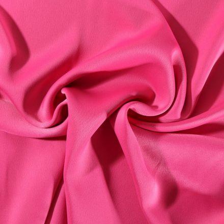 Tissu Crêpe satin mat Fuschia - Par 10 cm