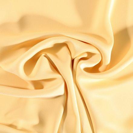 Tissu Crêpe satin mat Jaune - Par 10 cm