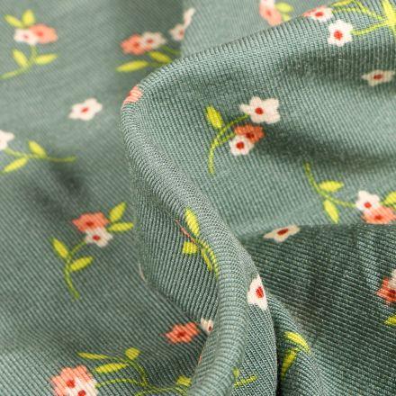Tissu Jersey Modal Lilly sur fond Vert d'eau