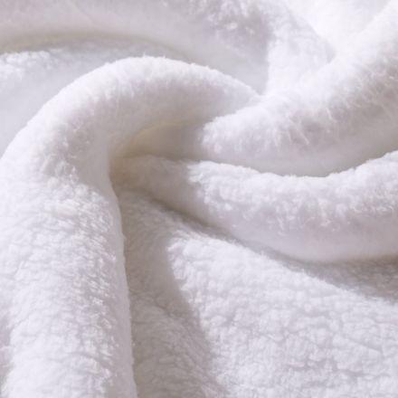 Fausse fourrure mouton Blanc - Par 10 cm