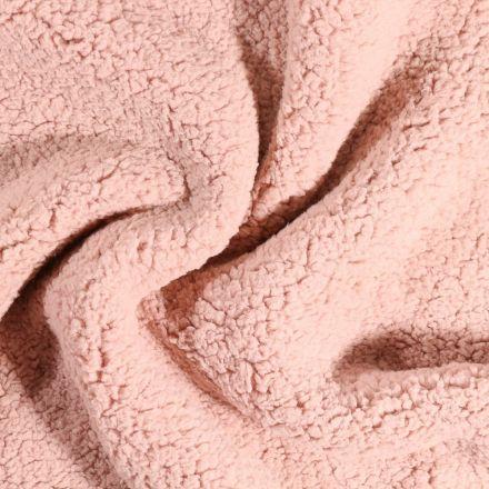 Fausse fourrure mouton Rose - Par 10 cm