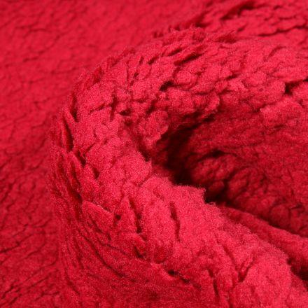 Fausse fourrure mouton Rouge foncé