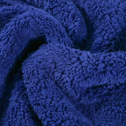 Fausse fourrure mouton Bleu roi - Par 10 cm
