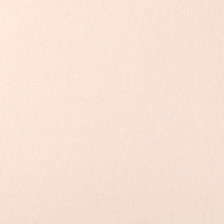 Tissu Toile Polycoton Côtelé Ecru - Par 10 cm