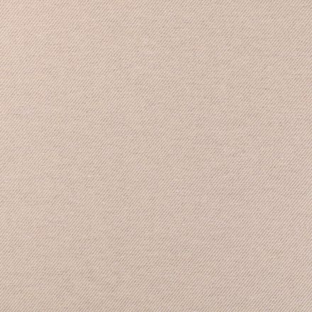 Tissu Toile Polycoton Côtelé Beige et blanc - Par 10 cm