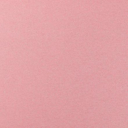 Tissu Toile Polycoton Côtelé Rose et blanc - Par 10 cm