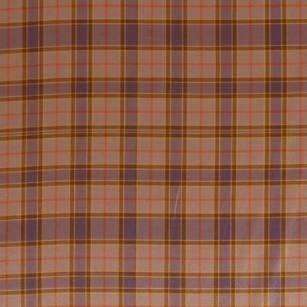 Tissu Satiné à carreaux Beige doré - Par 10 cm