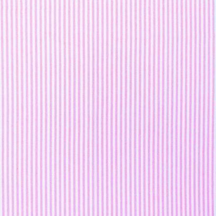 Tissus Jeans Rayures Rose sur fond Blanc - Par 10 cm
