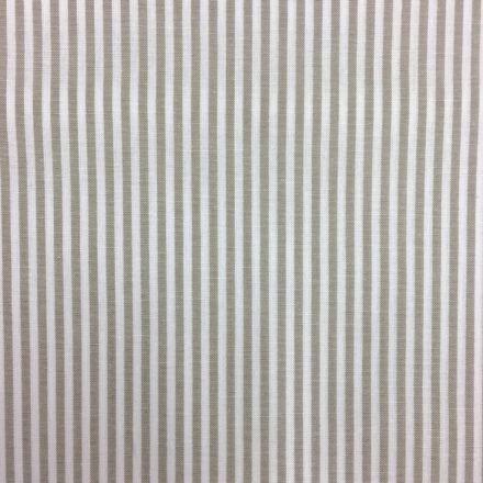 Tissu Vichy Rayures Taupe clair - Par 10 cm