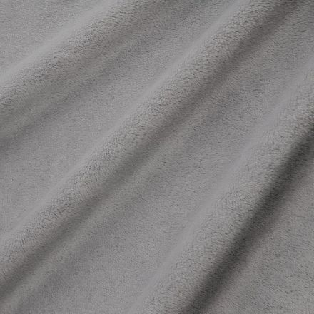 Tissu Minky Ultra doux Ras Gris anthracite x10cm