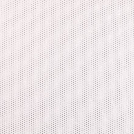 Tissu Coton Imprimé métallisé Frou-Frou Pois Scintillants gris-argentés sur fond Gris - Par 10 cm