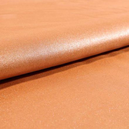 Tissu Coton Enduit Frou-Frou Scintillant Cuivré - Par 10 cm