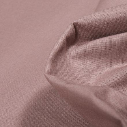 Tissu Popeline de coton unie Bio Beige sable - Par 10 cm