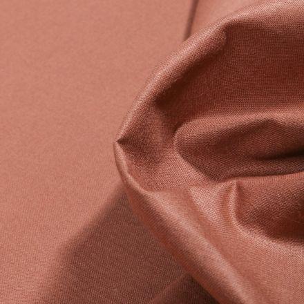Tissu Popeline de coton unie Bio Cappuccino - Par 10 cm