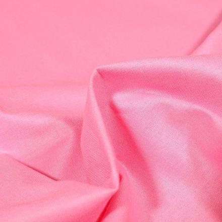 Tissu Popeline de coton unie Bio Rose - Par 10 cm