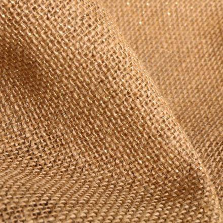 Tissu Toile de jute Paillettes lurex Naturel - Par 10 cm