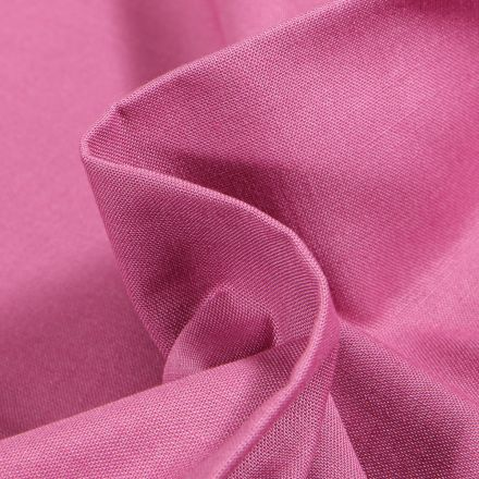 Tissu Popeline de coton unie Bio Rose blush