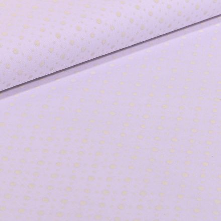 Tissu Coton MC Fabrics Petits et mini pois sur fond Blanc