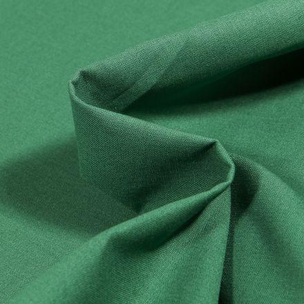 Tissu Popeline de coton unie Bio  Vert épicéa