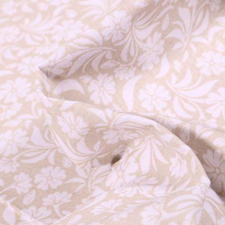 Tissu Coton MC Fabrics Garden sur fond Beige