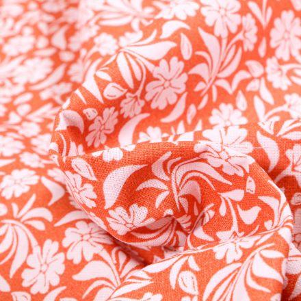 Tissu Coton MC Fabrics Garden sur fond Saumon