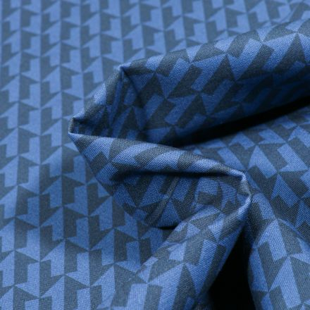 Tissu Coton MC Fabrics Flèches sur fond Bleu