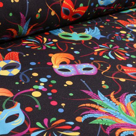 Tissu Burlington Carnaval sur fond Noir