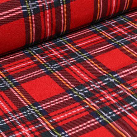 Tissu Burlington Ecossais sur fond Rouge