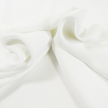 Tissu Crêpe satin mat Blanc x10cm