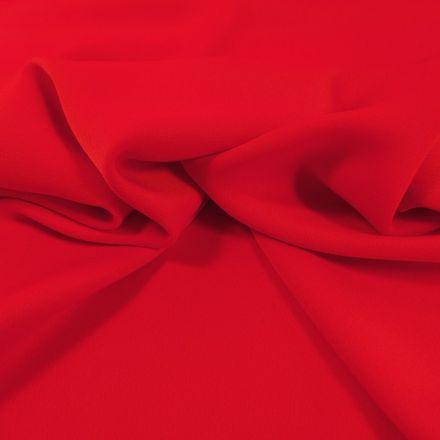 Tissu Crêpe satin mat Rouge Sang x10cm