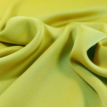 Tissu Crêpe satin mat Vert anis x10cm