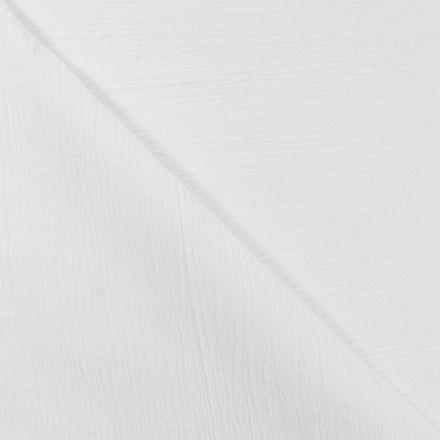 Tissu Crépon Blanc x10cm