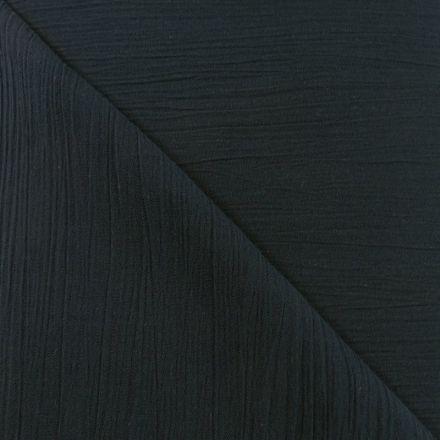 Tissu Crépon Noir x10cm