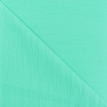 Tissu Crépon Vert menthe x10cm