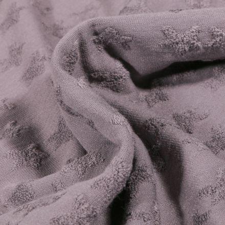 Tissu Jersey Coton Etoiles en relief Elisa Gris
