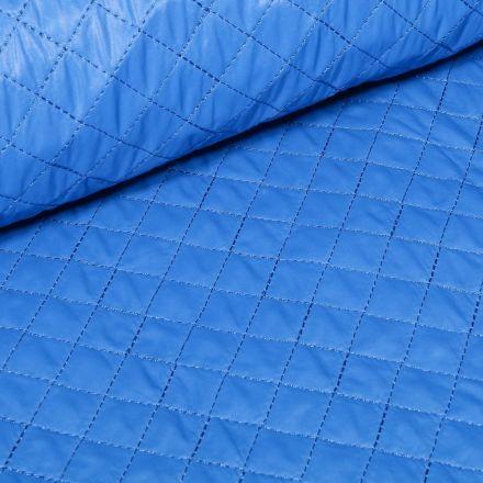 Tissu Doudoune matelassé London uni Bleu roi - Par 10 cm