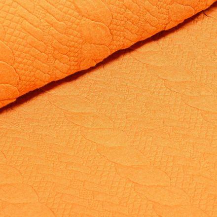 Tissu Sweat matelassé tressé Jaune - Par 10 cm