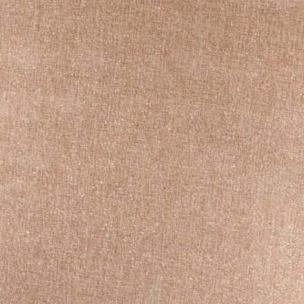 Tissu Toile de jute Scintillante dorée sur fond Naturel - Par 10 cm