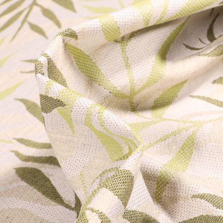 Tissu Jacquard Bamboo sur fond Vert