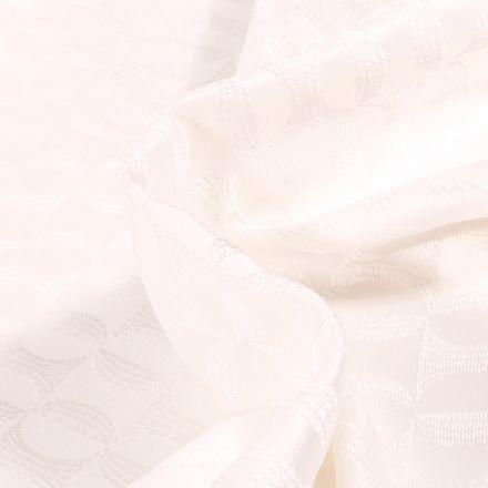 Tissu Jacquard Candice sur fond Blanc