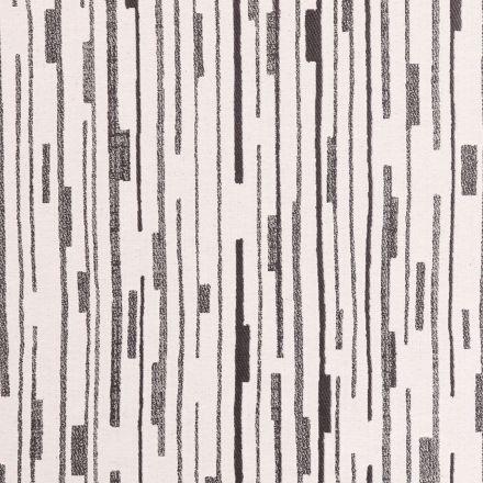 Tissu Jacquard Lignes et segments Noirs sur fond Ecru - Par 10 cm